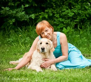 Ольга Нечаева и золотистый ретривер