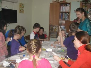 Волонтеры в приюте