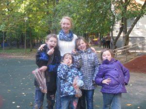 Даниловцы в детском приюте в Зюзино