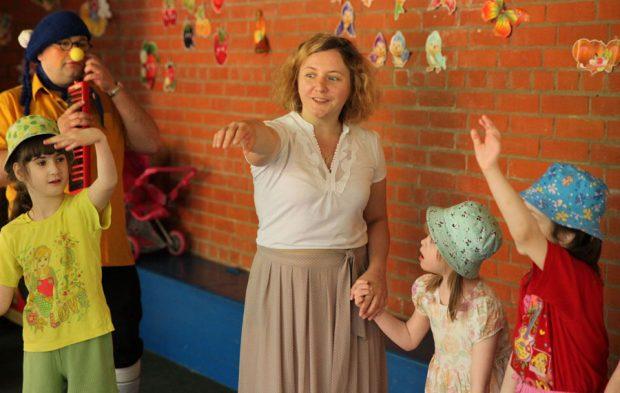 Группа в детском доме-интернате №24 для умственно отсталых детей