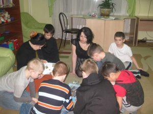 Волонтеры в детском приюте Зюзино